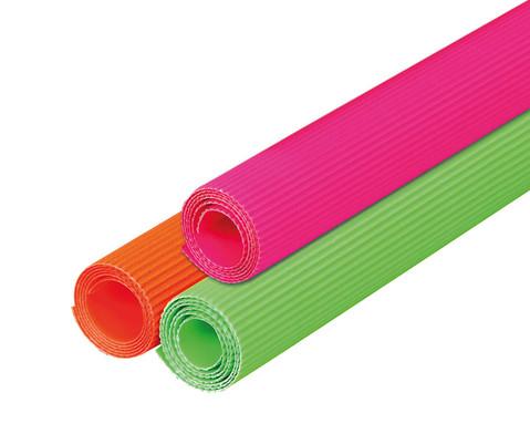 Bastelwellpappe neon-1