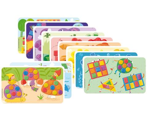 Playmais 14 Motivkarten Farben  Formen-1