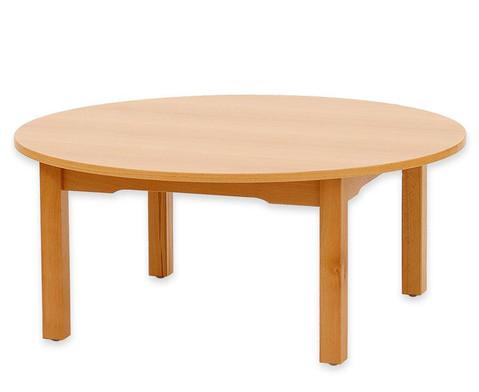 Betzold Runder Tisch Buche hell 58 cm hoch