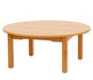 Betzold Runder Tisch, Buche hell, 58 cm hoch