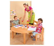 Runder Tisch, fertig montiert, Höhe: 58 cm