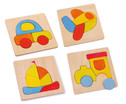 Puzzle Transportmittel 4er Set-1
