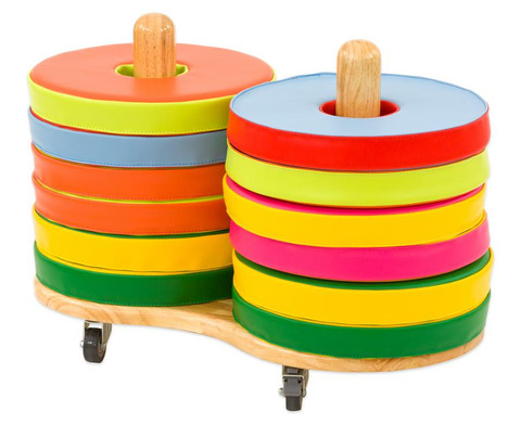 Betzold Donut Sitzkissen-Set inkl Stapelwagen
