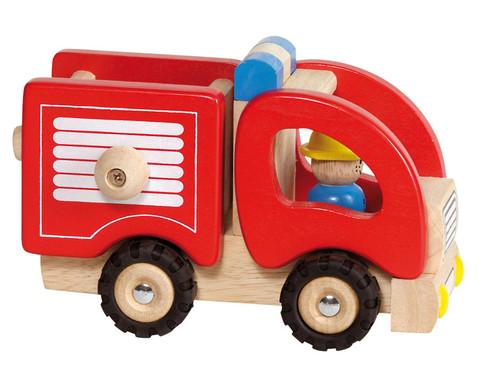 Holzfahrzeug Feuerwehrauto