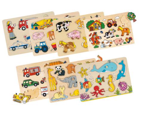 Steckpuzzle-Set 7-teilig