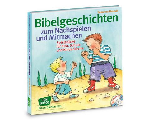 Bibelgeschichten zum Nachspielen und Mitmachen Buch  CD-1