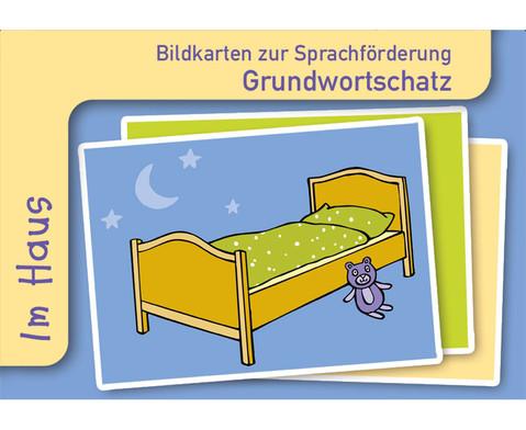 Im Haus Sprachfoerderung mit Bildkarten