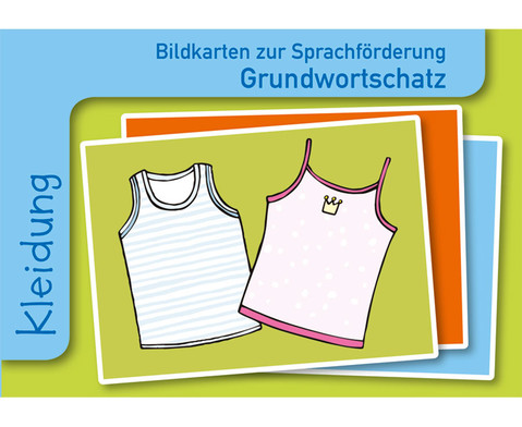 Kleidung Sprachfoerderung mit Bildkarten