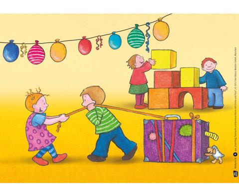 Bildkarten Fasching feiern mit Emma und Paul-2