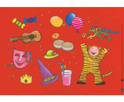 Bildkarten Fasching feiern mit Emma und Paul-3