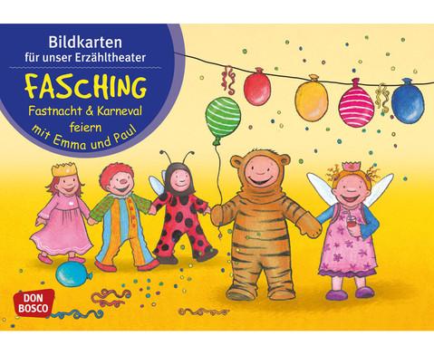 Fasching feiern mit Emma und Paul Kamishibai-Bildkartenset