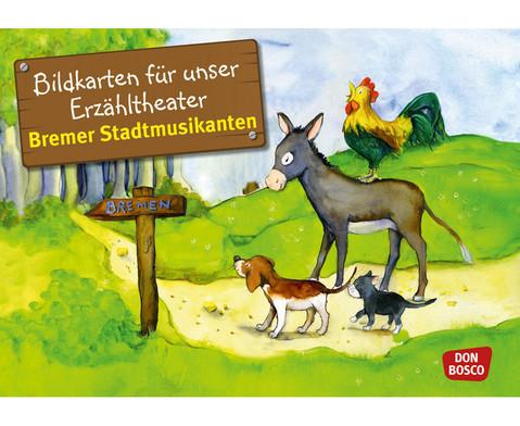 Bremer Stadtmusikanten Kamishibai-Bildkartenset