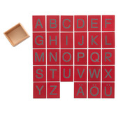 Fühl-Großbuchstaben im Holzkasten