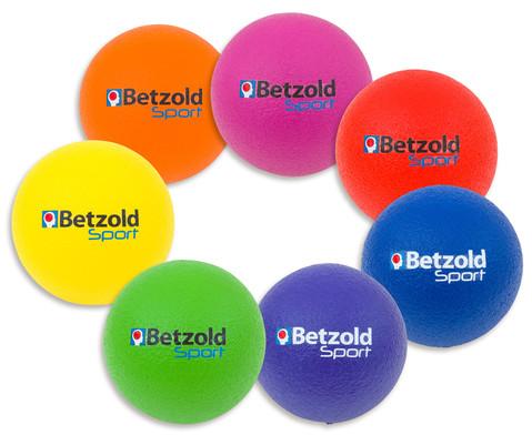 Betzold Sport Softbaelle im Stoffbeutel 7er-Set