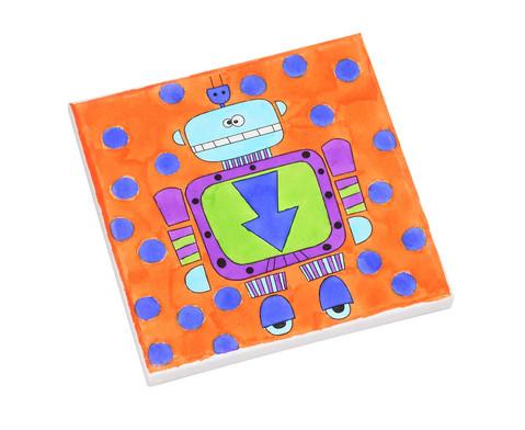 Bedruckte Keilrahmen Roboter 4 Stueck-1