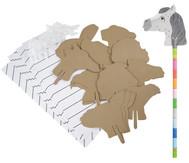 Steckentiere zum Gestalten, 30 Stück
