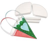 Geschenkkörbchen in Kegelform, weiß, 240 Stück