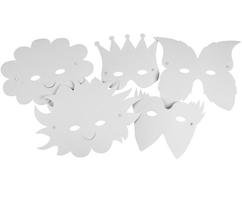 Masken zum Selbstgestalten 5 Stueck-3