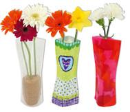 Flexible Vase, 3 Stück