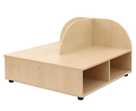 Sitzbank mit Rueckenlehne