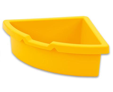 Aufbewahrungsbox dreieckig - gelb-1