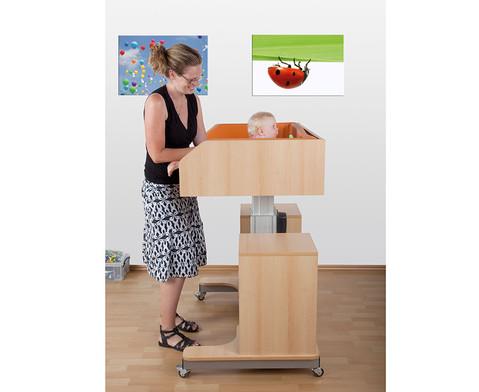 mobile wickelkommode elektrisch h henverstellbar. Black Bedroom Furniture Sets. Home Design Ideas