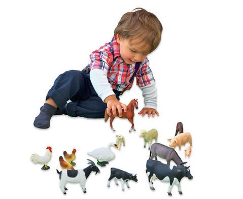 Bauernhof-Tiere-Set - 14 tlg-2