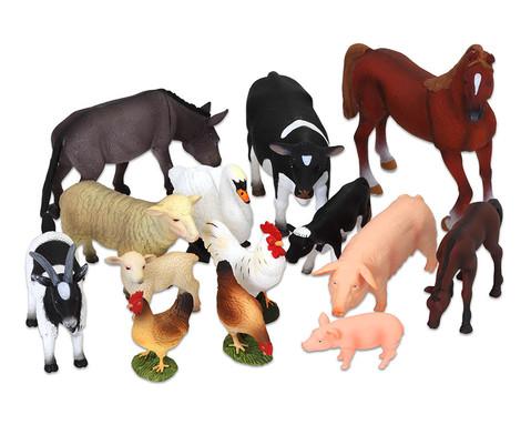 Bauernhof-Tiere-Set - 14 tlg