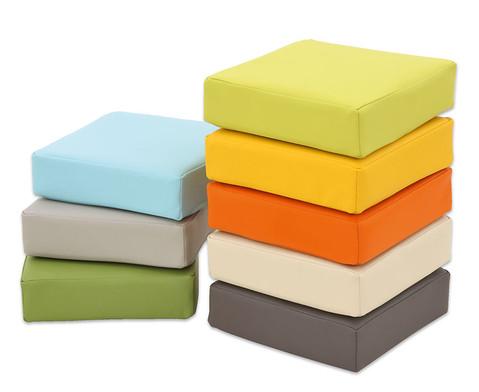 Regenbogen-Sitzkissen-Set in 8 Farben-1