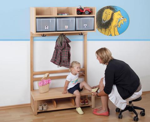 Krippen-Komplett-Garderobe 3 Boxen