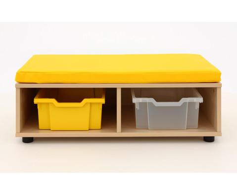 Maddox Sitzbankkombination 3 gelbe Sitzmatten-6