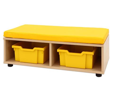 Maddox Sitzbankkombination 3 gelbe Sitzmatten-4