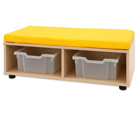Maddox Sitzbankkombination 3 gelbe Sitzmatten-2
