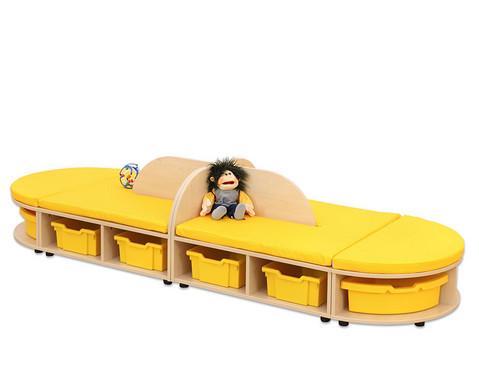 Maddox Sitzkombination 4 gelbe Sitzmatten-2