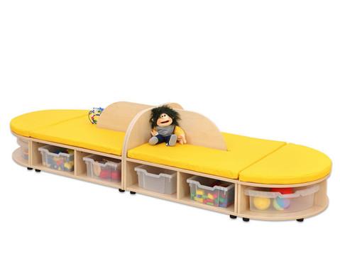 Maddox Sitzkombination 4 gelbe Sitzmatten-4