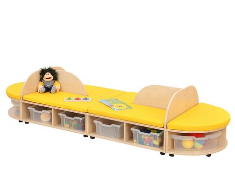 Maddox Sitzkombination 4 gelbe Sitzmatten-3