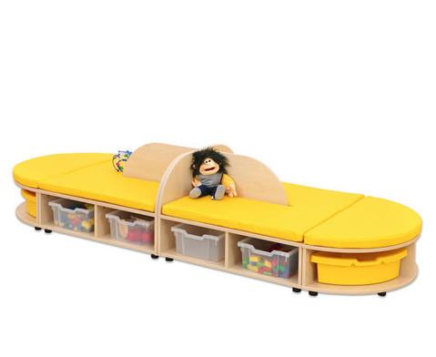 Maddox Sitzkombination 4 gelbe Sitzmatten-8