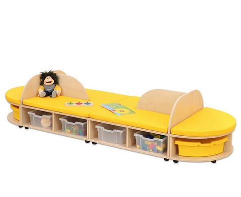 Maddox Sitzkombination 4 gelbe Sitzmatten-7