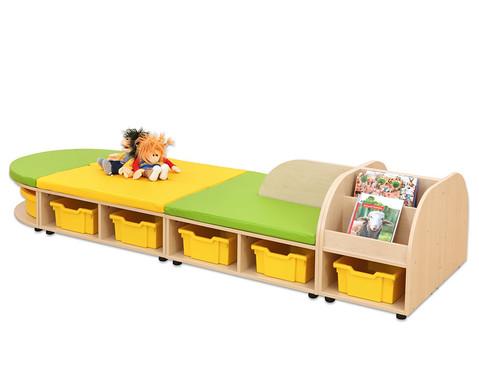 Maddox Sitzkombination 8 Sitzmatten gruen-gelb-4