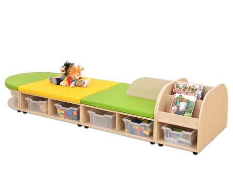 Maddox Sitzkombination 8 Sitzmatten gruen-gelb-2