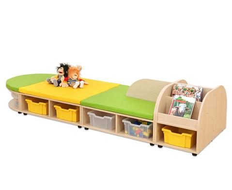 Maddox Sitzkombination 8 Sitzmatten gruen-gelb-3