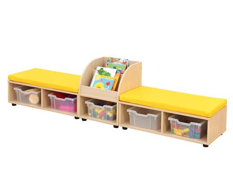 Maddox Sitzkombination 9 gelbe Sitzmatten-3