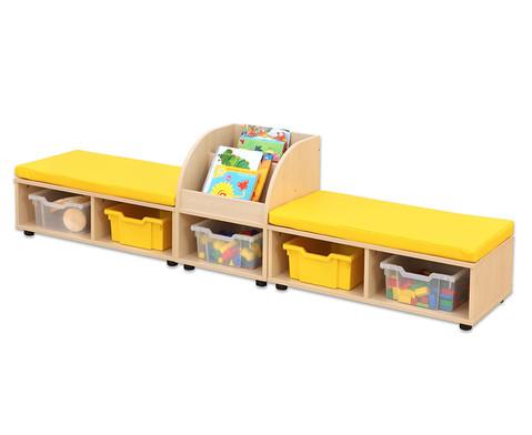 Maddox Sitzkombination 9 gelbe Sitzmatten-2
