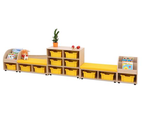 Maddox Regal- und Sitzkombination 1 gelbe Sitzmatten-3