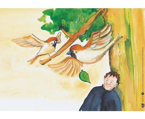 Bildkarten  Don Bosco und die Spatzen-3