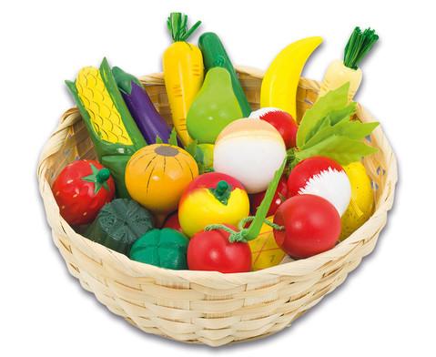 Obst und Gemuese im Korb 21-teilig