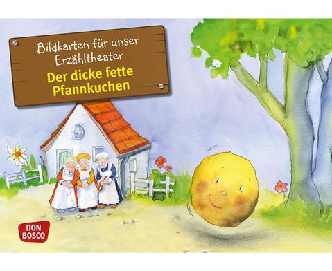 Bildkarten Der dicke fette Pfannkuchen