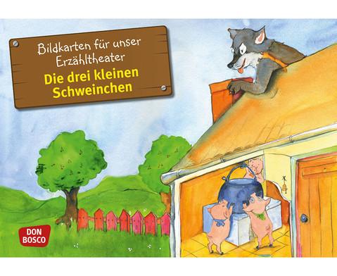 Bildkarten Die drei kleinen Schweinchen