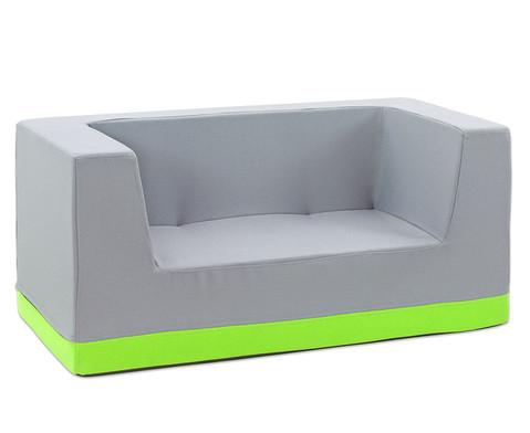 Sofa mit Rueckenlehne und Armstuetzen Webstoff-11