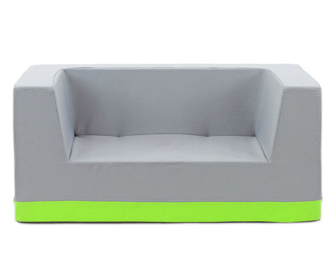 Sofa mit Rueckenlehne und Armstuetzen Webstoff-12
